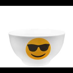 Бяла купа емотикон с очила 650мл - Чаши, Чинии, Продукти за Сервиране
