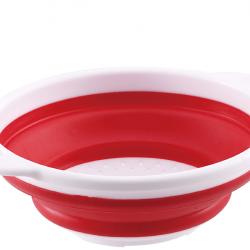 Силиконов сгъваем гевгир в червено 27 см - Тенджери, Тигани и други Готварски продукти