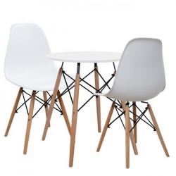 Сет маса Art ф60 с 2 стола Memo.bg модел Art uud - white - Комплекти маси и столове