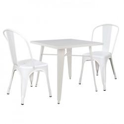Сет маса 80х80 с 2 стола Memo.bg модел Relix hai - Комплекти маси и столове