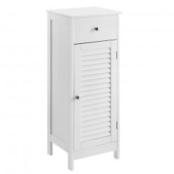 Шкаф за баня – 87x30x30cm – бял с чекмеджета - Шкафове за Баня