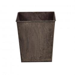 Декоративна кашпа за интериорна и екстериорна употреба , Метал, Тъмнокафява - Саксии, Кашпи