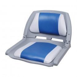 Седалка за капитанско място на моторна лодка/яхта,  521 x 457 x 408 mm, Синя/Бяла - За яхти и лодки