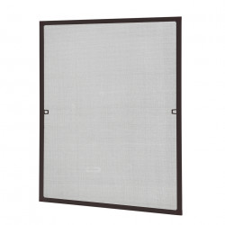 Мрежа против насекоми , алуминиева рамка 80 x 100 cm, Кафява - Дограми и Комарници