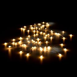 Коледни LED лампички - с топло бяла светлина с 80 LED- 11 м. - Сезонни и Празнични Декорации