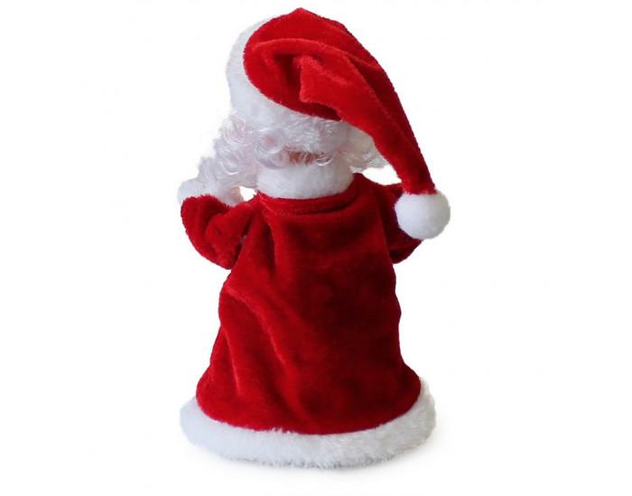 Танцуващ, въртящ се и пеещ Дядо Коледа - 30 см. - червен -