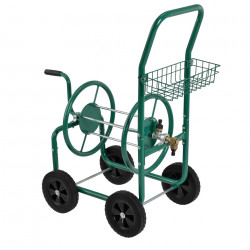 Количка за градински маркуч  XL 83 x 48 x 92cm, с кошница - Поливане, Напояване