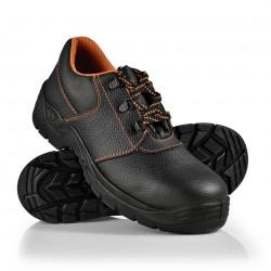 Работни обувки 41 S3, водоустойчиви, стоманени подложки, Черни/ Оранжеви, ниски - Предпазни облека