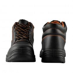 Работни обувки 46 S3, водоустойчиви, стоманени подложки, Черни/ Оранжеви - Предпазни облека