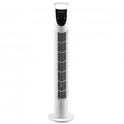 Дизайнерски вентилатор, 40W, с 3 степени, Бял - Климатични електроуреди