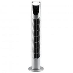 Дизайнерски вентилатор, 40W, с 3 степени, Сребрист - Климатични електроуреди