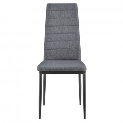 Комплект от 4 броя столове за трапезария Текстил, Сиви, 96 x 43 x 52 cm - Комплекти маси и столове
