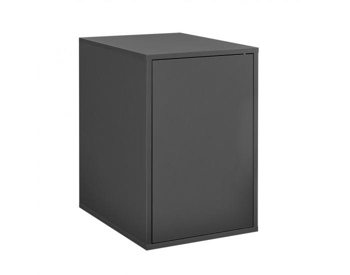 Комбиниращи се артикули - вратички за шкафове към модули за съхранение и стенен монтаж 27x42 см. - сив -