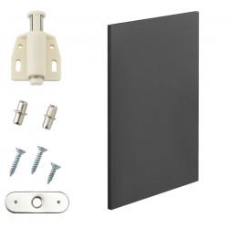 Комбиниращи се артикули - вратички за шкафове към модули за съхранение и стенен монтаж 27x42 см. - сив - Sonata G