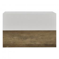 2 броя нощни шкафчета за стенен монтаж с едно чекмедже Дърво/Бял мат, 46x30x15cm - Сравняване на продукти