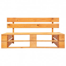 Sonata Градинска пейка от палети, FSC дърво, меденокафява - Градински Дивани и Пейки