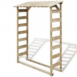 Sonata Навес за дърва за огрев, 150x44x176 cм, FSC импрегниран бор - Камини, Комини и Печки на дърва