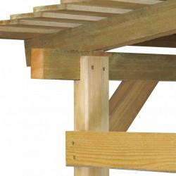 Sonata Градински навес, FSC импрегнирано борово дърво, 170x200x200 см - Камини, Комини и Печки на дърва