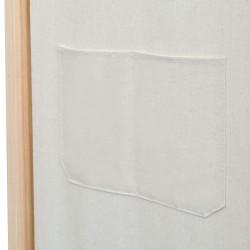 Sonata Параван за стая, 3 панела, кремав, 120x170x4 cм, текстил - Аксесоари за Всекидневна