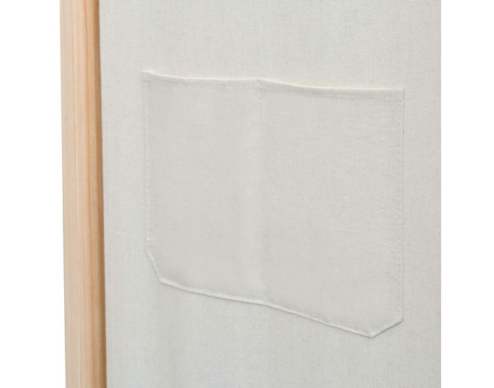 Sonata Параван за стая, 3 панела, кремав, 120x170x4 cм, текстил -