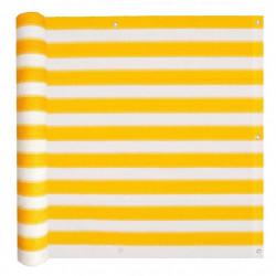 Sonata Балконски екран, HDPE, 90x600 см, жълто и бяло - Сенници и Чадъри