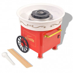 Sonata Машина за захарен памук на колела, 480 W, червена - Малки домакински уреди