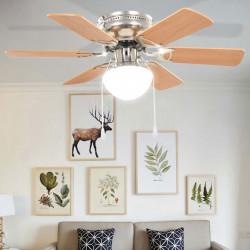 Sonata Декоративен вентилатор таванен с осветление, 82 см, светлокафяв - Климатични електроуреди