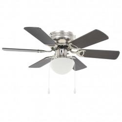 Sonata Декоративен вентилатор за таван с осветление, 82 см, тъмнокафяв - Климатични електроуреди