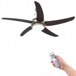 Sonata Декоративен вентилатор за таван с осветление, 128 см, кафяв - Климатични електроуреди