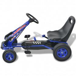 Sonata Детски картинг с педали, с регулируема седалка, син - Детски превозни средства