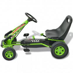 Sonata Детски картинг с педали, с регулируема седалка, зелен - Детски превозни средства