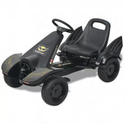 Sonata Детски картинг с педали, с регулируема седалка, черен - Детски превозни средства