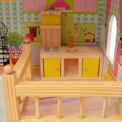 Sonata 3-етажна къща за кукли, 60 x 30 x 90 см, дърво - Сравняване на продукти