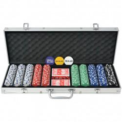 Sonata Покер комплект с 500 чипа, алуминий - Спортни Игри