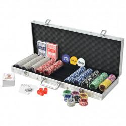 Sonata Покер комплект с 500 лазерни чипа, алуминий - Спортни Игри