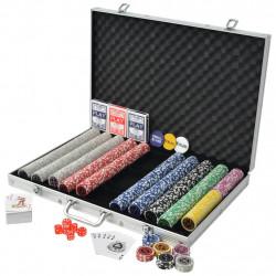 Sonata Покер комплект с 1000 лазерни чипа, алуминий - Спортни Игри
