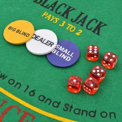 Sonata Комбиниран покер/блекджек комплект, 600 лазерни чипа, алуминий - Спортни Игри