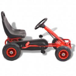 Sonata Детски картинг с педали и гуми, червен - Детски превозни средства