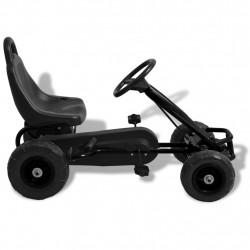 Sonata Детски картинг с педали и гуми, черен - Детски превозни средства