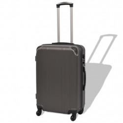 Sonata Комплект от 4 броя твърди куфари на колелца, антрацитно черно - Куфари и Чанти
