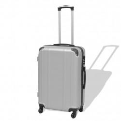 Sonata Комплект от 4 броя твърди куфари на колелца, сребристи - Куфари и Чанти