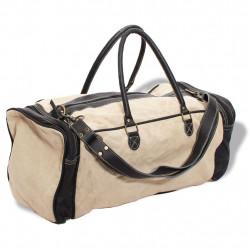 Sonata Пътна чанта, естествена кожа и текстил, бежово - Куфари и Чанти