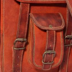 Sonata Чанта, презраменна, от естествена кожа, за 7 инчов лаптоп - Куфари и Чанти