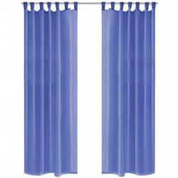Sonata Пердета от воал, 2 бр, 140x245 см, кралско синьо - Завеси, Пердета и Кoрнизи