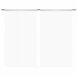 Sonata Пердета ресни, 2 бр, 100x250 см, бели - Завеси, Пердета и Кoрнизи