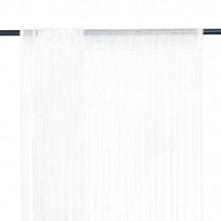 Sonata Пердета ресни, 2 бр, 140x250 см, бели - Завеси, Пердета и Кoрнизи