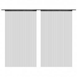 Sonata Пердета ресни, 2 бр, 100x250 см, черни - Завеси, Пердета и Кoрнизи
