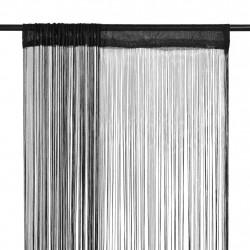 Sonata Пердета ресни, 2 бр, 140x250 см, черни - Завеси, Пердета и Кoрнизи
