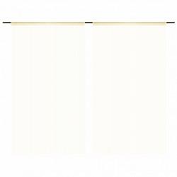 Sonata Пердета ресни, 2 бр, 100x250 см, кремави - Завеси, Пердета и Кoрнизи