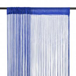 Sonata Пердета ресни, 2 бр, 100x250 см, сини - Завеси, Пердета и Кoрнизи
